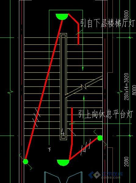 请教这样画楼梯灯用双控开关有没有问题