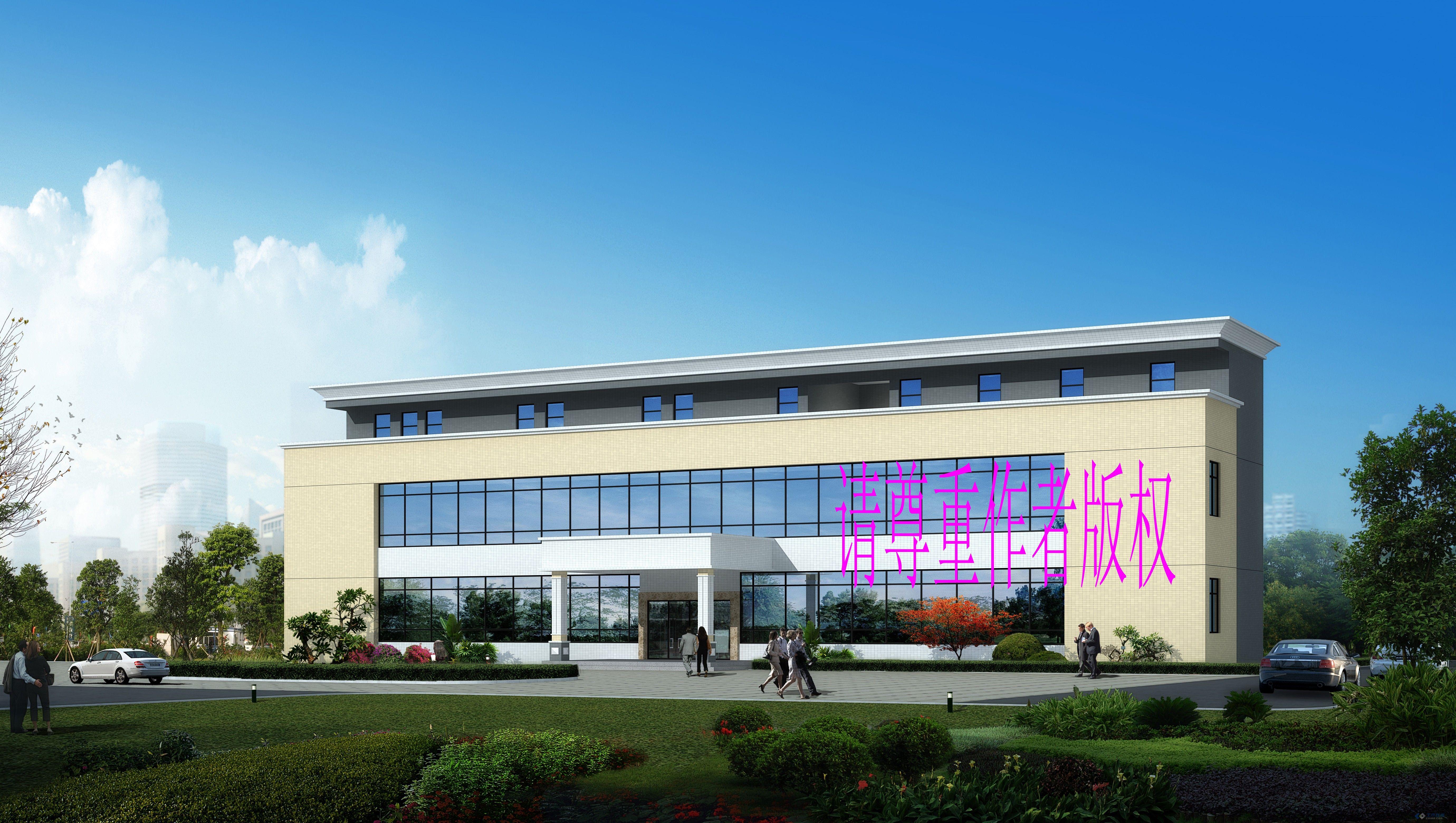 企业办公楼建筑施工图纸(含效果图)   【天津】三层框架结构