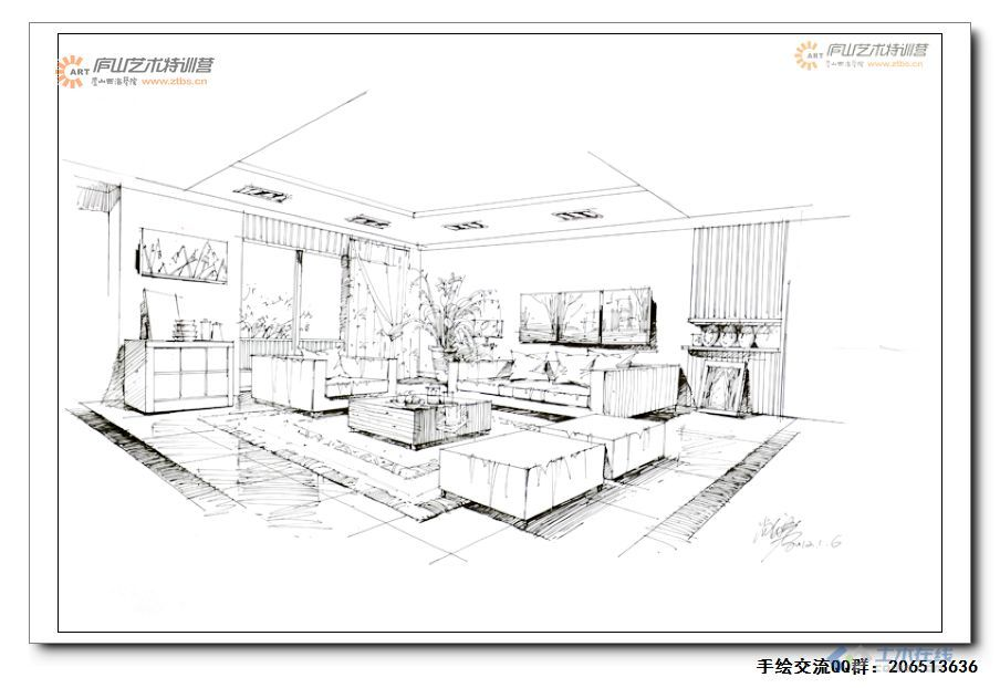 尚龙勇老师室内空间两点透视示范1-10.jpg