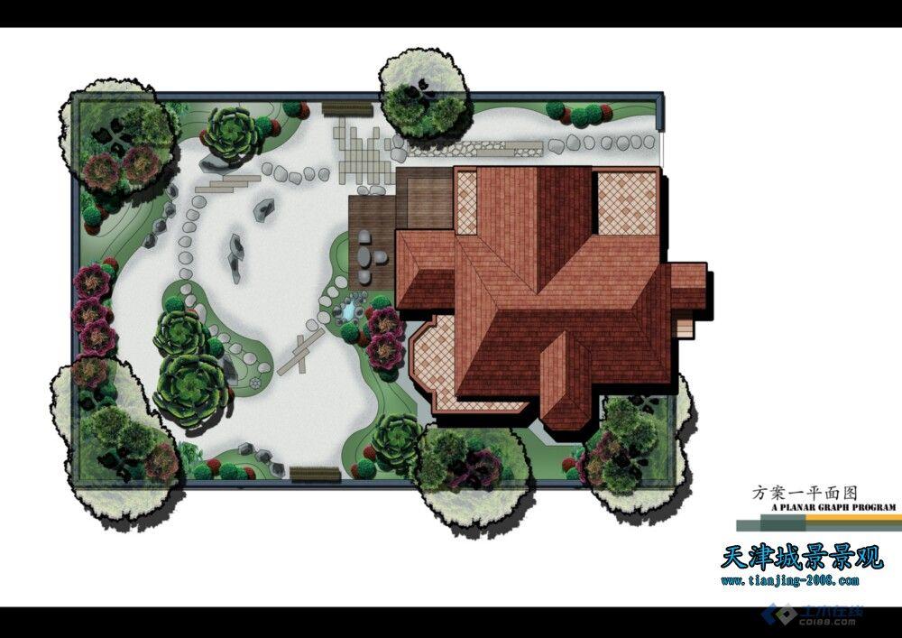 六套日式庭院平面图,效果图——甲方没相中