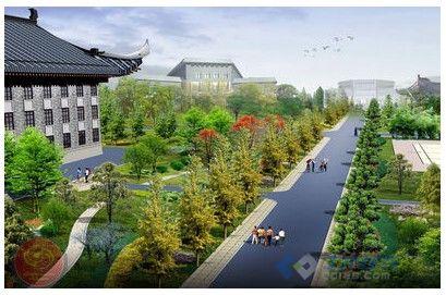 中央民族大学校园景观设计 杭州贝尔高林景观设计案例展示