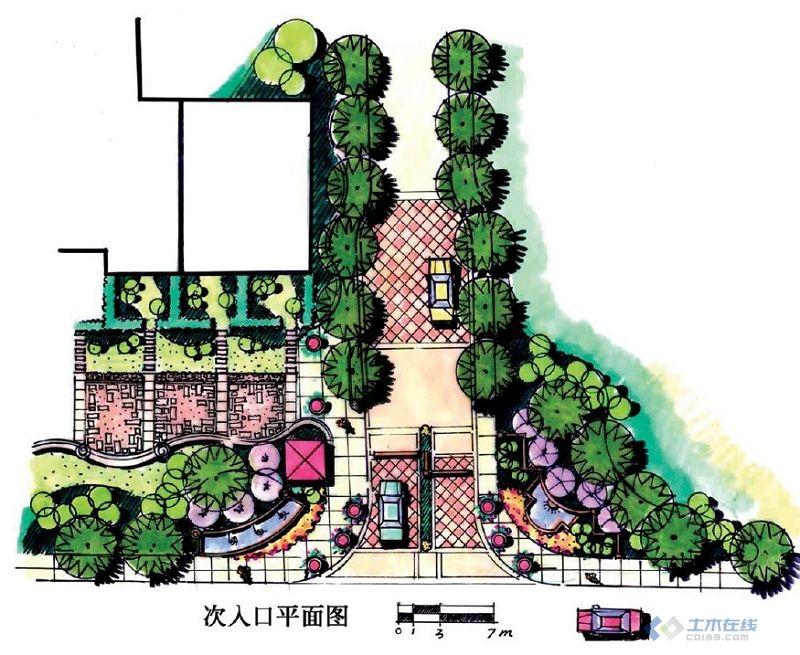 【方案展示】景观入口设计平面图手绘效果图大汇集