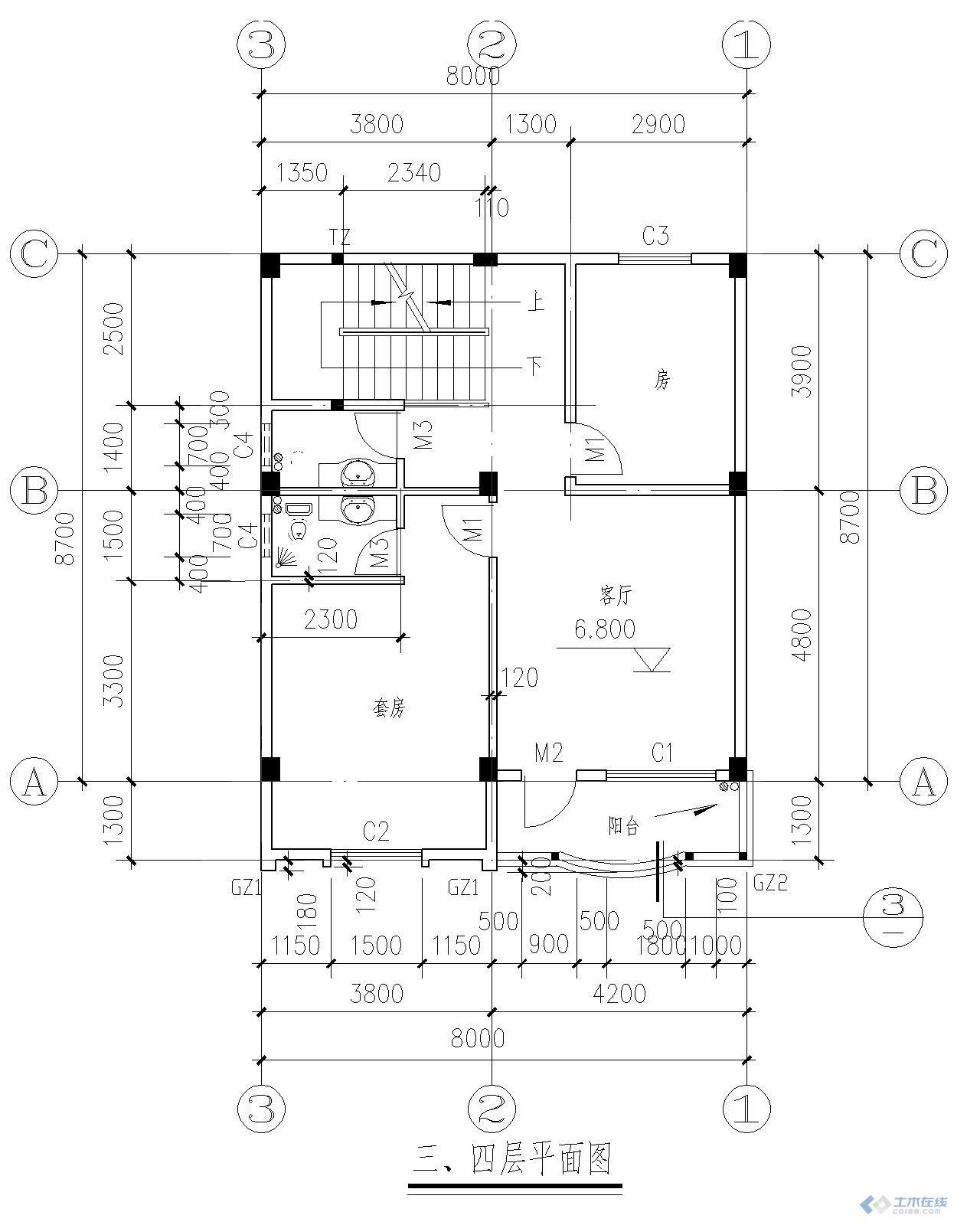 80平米自建房设计图