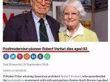 【早安建筑】建筑大师罗伯特·文丘里因病去世,享年93岁,大师一路走好_图1