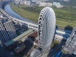 以鹅卵石为灵感的设计——台北砳建筑 / Aedas_图2
